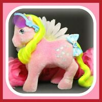❤️My Little Pony MLP G1 Vtg So Soft SHADY Flocked Fuzzy Pink Sunglasses❤️