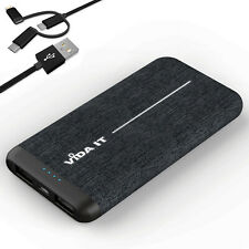 Fabric Covered Design Power Bank 8000mAh Dual USB Battery Pack Travel Charger 2A