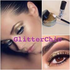 Glitzer Augen Gold mit Fix Gel und Anwendungen Stab lang anhaltend Sparkles 10g