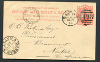 NATAL: (16714) CAMPERDOWN postmark/card
