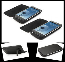 2X 3200MAH BACKUP BATTERY CHARGER POWER FLIP CASES COVER BLACK FOR GALAXY S3