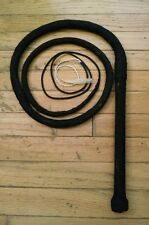 Bull whip-Black apprx 7 ft long loud(see video) w/ Athletic tape,chain,paracord