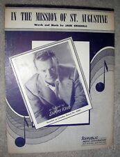 1953 IN THE MISSION OF ST. AUGUSTINE Vintage Sheet Music SAMMY KAYE by Chiarelli