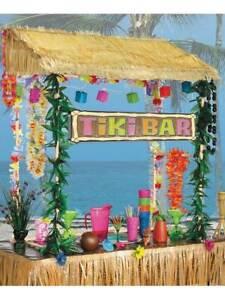 Table Top Tiki Hut Bar Hawaiian Pool Party BBQ Honalulu Luau Hula Caribbean Maui