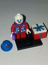 LEGO SAD ANGRY KID CLOWN WITH PRESENT