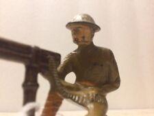 Vintage Barclay Manoil GREY IRON G112 Foreign Legion Machine Gunner
