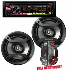 "JVC KD-RD98BTS Bluetooth CD + 1 Pair  Pioneer TS-F1634R 6.5""  + Free  Headphone"