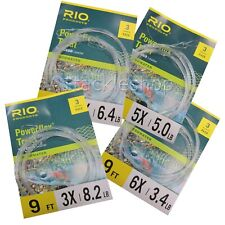 3 Rio Powerflex Trout Fly Fishing Tapered Leaders