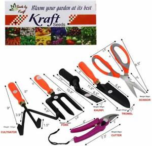 Seeds 6 in 1 Garden Tool Set Gardening Tools Gift Kit Non-Slip Handle free ship
