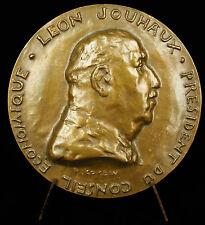 Médaille au syndicaliste  Léon Jouhaux 1966 syndicaliste président CGT FO Medal