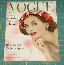 February Vogue 1957 Rare Vintage Vanity Fair Fashion Design Collection Magazine