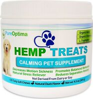PureOptima Calming Treats for Dogs 120 Soft Chews, Anxiety & Stress Relief