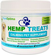 PureOptima Calming Treats for Dogs 120 Soft Chews, Anxiety Relief, Fireworks