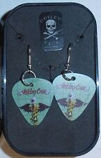 Motley Crue Guitar Pick Earrings & Collector Box by Rock Express Brand New