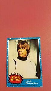 Star Wars Series 1 Blue Series Luke Skywalker Rookie Card #1 NM condition
