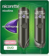 Nicorette QuickMist COOL BERRY 1mg Nicotine Mouth Spray - 2 x 150ml