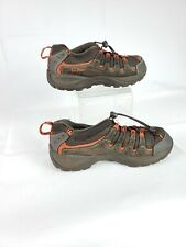 LL BEAN Boys Hiking Trail Shoes Sneakers Size 5 Youth Brown/Orange