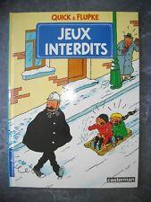 BD ancienne Quick & Fulpk studios Hergé édition casterman