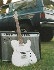 Fender Player Series Telecaster guitar Deluxe Reverb Amp ad 2-page advertisement