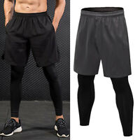 Men Athletic Pants Compression Training Running Base Layer Sports Tights Bottoms