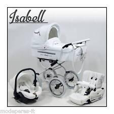 PASSEGGINO TRIO CON OVETTO AUTO  MADE UN UE BABY STROLLER WITH CAR SEAT ISABELL