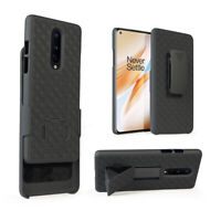 Cover for OnePlus 8 Belt Clip Holster Case with Tempered Glass Screen Protector