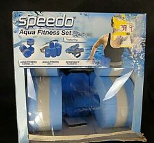 SPEEDO Aqua Fitness Set; Belt, Barbell & Resistance Runners, Great Pool Set!!