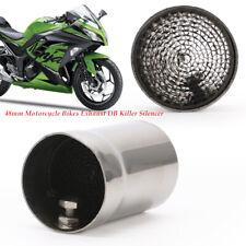 48mm Motorcycle Bikes Exhaust DB Killer Silencer Muffler Baffle Kit Sliver