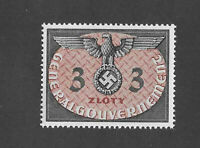 MNH WWII emblem stamp 3ZL 1940 issue / Third Reich Germany / Occupied Poland