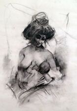 "Julian Ritter - Mother's Love - Charcoal on Vellum 19"" x 24""- Signed - 347"