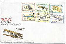 Rhodesia  1978 75th Avvinversary of Powered Flight FDC CHIREDZI Oct 18