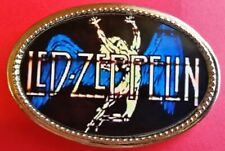 LED ZEPPELIN Epoxy PHOTO MUSIC BELT BUCKLE