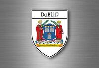sticker adesivi adesivo stemma etichetta bandiera auto dublino irlandese