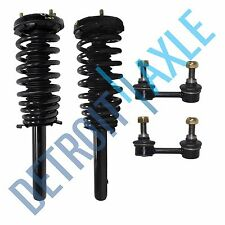 (2) New Complete Front Quick Struts w/ Springs & Mounts + Sway Bar End Links