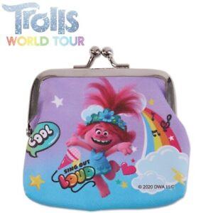 TROLLS 2 KIDS COIN PURSE Girl Rainbow Poppy Design Party Favour Pocket Money Toy