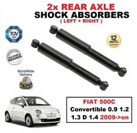 2x REAR SHOCK ABSORBERS for FIAT 500C Convertible 0.9 1.2 1.3 D 1.4 2009->on
