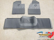 2006-2009 Dodge Ram 2500 3500 Front & Rear All Weather Slate Grey Floor Mat Set