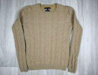 Womens Vintage Tommy Hilfiger Wool Cashmere Beige Sweater Jumper Size XS