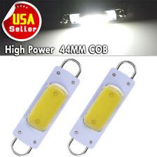 2x Super White 44mm COB Rigid Loop Festoon LED Light Bulb 561 562 567 564 212-2