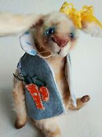 Teddy Rabbit Carolina OOAK Artist Teddy by Voitenko Svitlana.