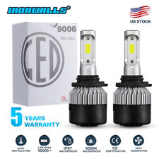 IRONWALLS 9006 HB4 LED Headlights Bulbs Kit Low Beam 1320W 198000LM 6000K White