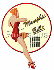 Pinup Girl Waterslide Decal Memphis Belle B-17 WWII Bomber Nose Art S926