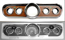 NEW 1965 1966 Ford Mustang Woodgrain INSTRUMENT BEZEL Wood BEZEL LENS Set Deluxe