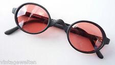Polaroid Sonnenbrille kleine ovale Form schwarz ausgefallen pinke Gläser size M