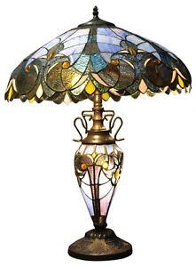 Blue Double Tiffany Lamp 68cm Multi Bulbs Home Light Lighting Decor