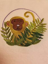 Personalized Embroidery Baby Blanket Baby Monkey