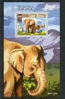 Guinea-Bissau 2015 MNH Elephants 1v S/S Wild Animals African Bush Elephant