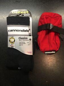 Defeet woolie classico Cannondale socks XL plus seat bag