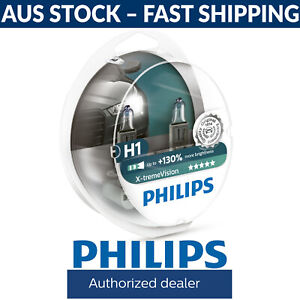 Philips X-tremeVision Xtreme Vision +130% Light Car Headlight Globes H1 (Twin)