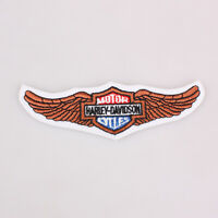 """Harley Davidson Motor Cycles Wide Wings Embroidered Patch Iron 5x1.6"""" 12.5x4Cm"""
